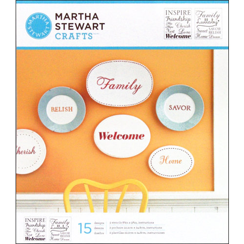 Martha Stewart Crafts - Stencil - Medium - Inspiration
