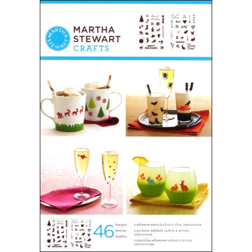 Martha Stewart Crafts - Adhesive Stencil - Holiday Icons II