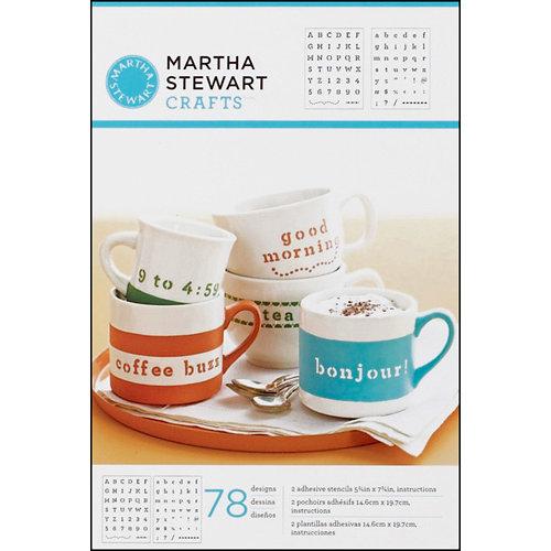 Martha Stewart Crafts - Adhesive Stencil - Typewriter