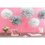 Martha Stewart Crafts - Pom Pom Kit - Patterned Silver