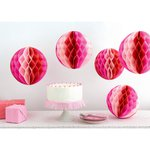 Martha Stewart Crafts - Honeycomb Paper Decorations - Pink Ombre