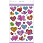 Multi Craft - Laser Stickers - Embossed Hearts