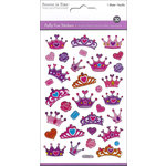 Multi Craft - Puffy Stickers - Glitter Crowns