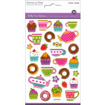 Multi Craft - Puffy Stickers - Coffee and Dessert