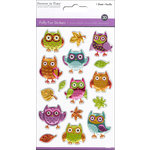 Multi Craft - Puffy Stickers - Owls