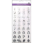 Multi Craft - 3D Embossed Stickers - Font - Numbers - Silver