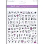 Multi Craft - Cardstock Stickers - Dazzle - Alphabet - Clear Foil Floral