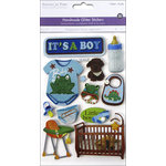 Multi Craft - 3D Chipboard Stickers - Baby Boy