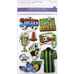 Multi Craft - 3D Chipboard Stickers - Soccer Fun
