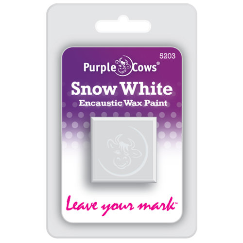 Purple Cows Incorporated - Encaustic Paint Cubes - Snow White