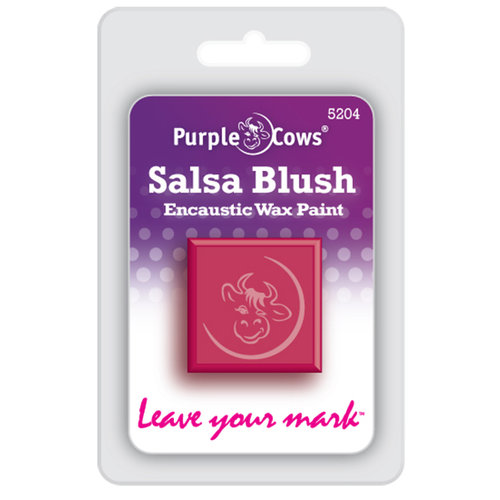 Purple Cows Incorporated - Encaustic Paint Cubes - Salsa Blush