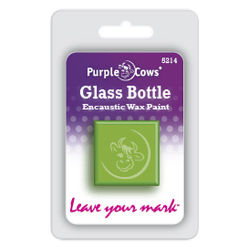 Purple Cows Incorporated - Encaustic Paint Cubes - Glass Bottle Green