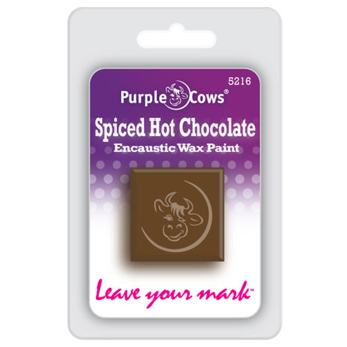 Purple Cows Incorporated - Encaustic Paint Cubes - Spiced Hot Chocolate