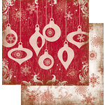 The Paper Element - Tinsel Town Collection - 12 x 12 Double Sided Paper - Mistletoe, CLEARANCE