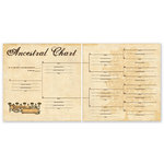 The Paper Loft - For the Record Collection - 12 x 12 Double Sided Paper - Ancestral Chart
