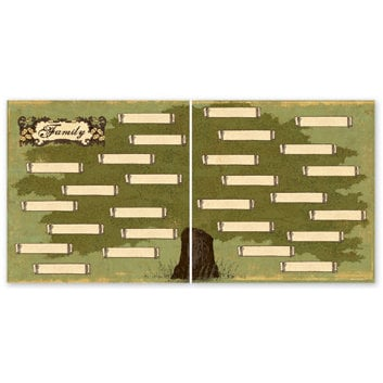 The Paper Loft - For the Record Collection - 12 x 12 Double Sided Paper - Family Tree