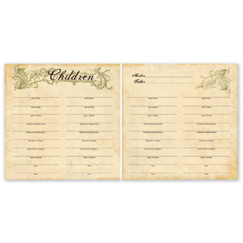 The Paper Loft - For the Record Collection - 12 x 12 Double Sided Paper - Children Chart