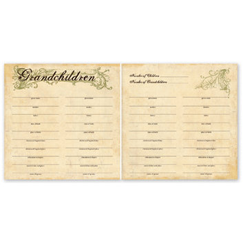 The Paper Loft - For the Record Collection - 12 x 12 Double Sided Paper - Grandchildren Chart