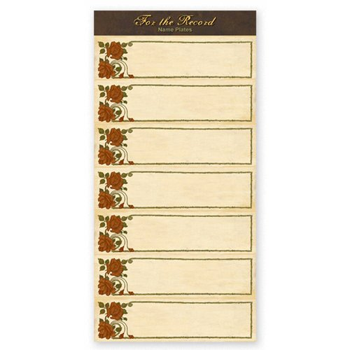 The Paper Loft - For the Record Collection - Cardstock Pieces - Name Plates - Rose Tags