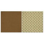 The Paper Loft - Gone Camping Collection - 12 x 12 Double Sided Paper - Splitting Logs