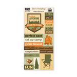The Paper Loft - Gone Camping Collection - Cut Apart Cardstock Pieces - Set Up Camp