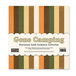 The Paper Loft - Gone Camping Collection - 12 x 12 Distressed Cardstock Pack