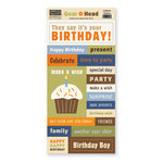 The Paper Loft - Gear Head Collection - Cardstock Pieces - Birthday