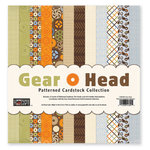 The Paper Loft - Gear Head Collection - 12 x 12 Patterned Cardstock Pack