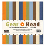 The Paper Loft - Gear Head Collection - 12 x 12 Distressed Cardstock Pack