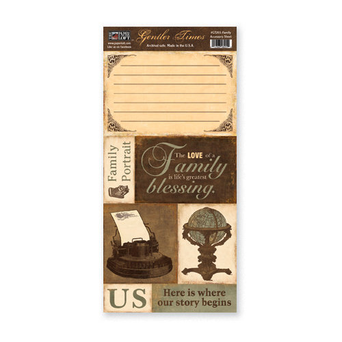 The Paper Loft - Gentler Times Collection - Cardstock Pieces - Family