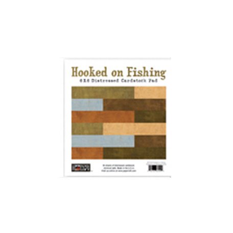 The Paper Loft - Hooked on Fishing Collection - 6 x 6 Distressed Paper Pad