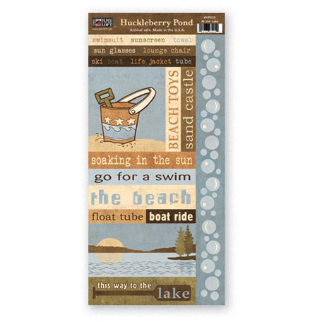 The Paper Loft - Huckleberry Pond Collection - Cardstock Pieces - Day at the Lake