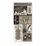 The Paper Loft - Shades of Gray Collection - Cardstock Pieces - Winter