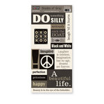 The Paper Loft - Shades of Gray Collection - Cardstock Pieces - Be You