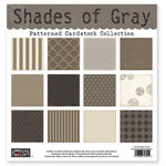 The Paper Loft - Shades of Gray Collection - 12 x 12 Patterned Cardstock Pack