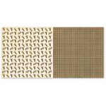 The Paper Loft - Scattered Pine Mountain Collection - 12 x 12 Double Sided Paper - Pinecone Lodge