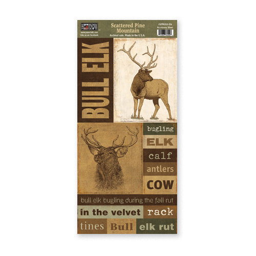 The Paper Loft - Scattered Pine Mountain Collection - Cardstock Pieces - Elk