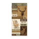 The Paper Loft - Scattered Pine Mountain Collection - Cardstock Pieces - Deer