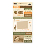 The Paper Loft - The Great Outdoors Collection - Cardstock Pieces - Fishing