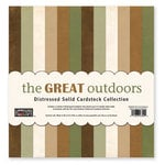 The Paper Loft - The Great Outdoors Collection - 12 x 12 Distressed Cardstock Pack