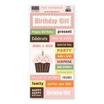 The Paper Loft - Truly Scrumptious Collection - Cardstock Pieces - Birthday