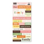 The Paper Loft - Truly Scrumptious Collection - Cardstock Pieces - Family
