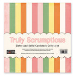 The Paper Loft - Truly Scrumptious Collection - 12 x 12 Distressed Cardstock Pack