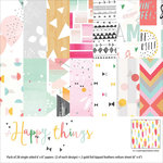 Pinkfresh Studio - Happy Things Collection - 6 x 6 Paper Pack