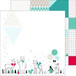 Pinkfresh Studio - Christmas Wishes Collection - 12 x 12 Double Sided Paper - Christmas Parade