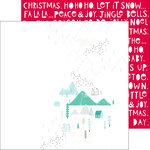 Pinkfresh Studio - Christmas Wishes Collection - 12 x 12 Double Sided Paper - Winter Joy