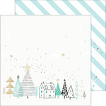 Pinkfresh Studio - Christmas Wishes Collection - 12 x 12 Double Sided Paper - Starry Night