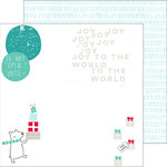 Pinkfresh Studio - Christmas Wishes Collection - 12 x 12 Double Sided Paper - Joy to the World