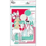 Pinkfresh Studio - Christmas Wishes Collection - Die Cut Cardstock Pieces