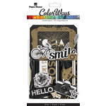 Paper House Productions - Color Ways Collection - Noir - Accents - Die Cut Cardstock Pieces